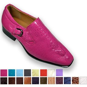 Fuschia Pink Dress Shoes Men