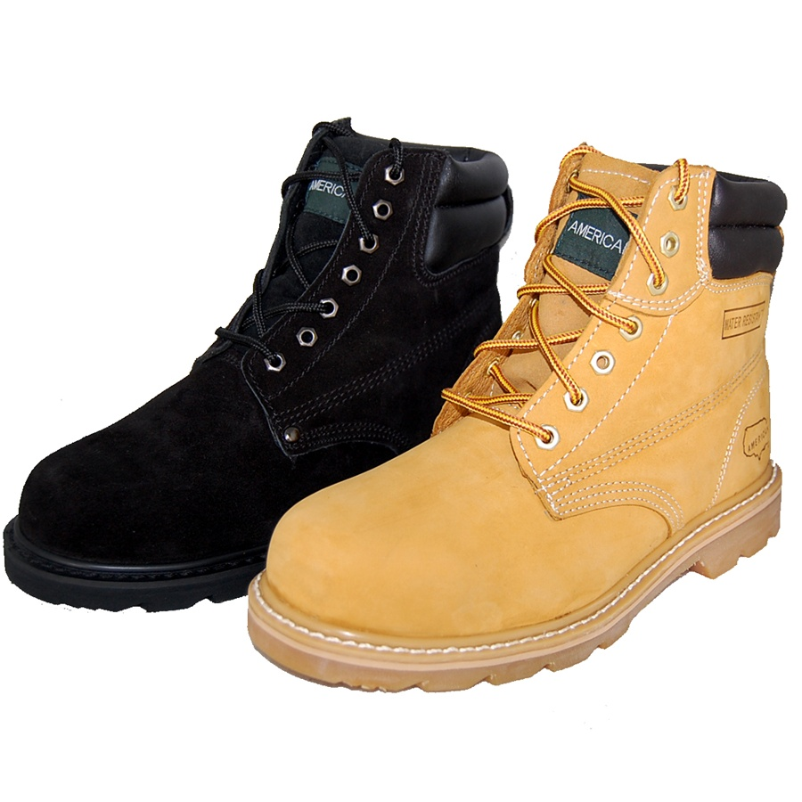 2 Pairs Combo Deal Work Boot Wheat Amp Outdoor Leather Shoes