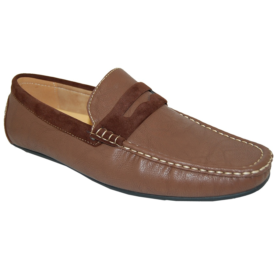 AMERICAN SHOE FACTORY BOSSMAN Brown Penny Loafer Men's Driving Shoes at Sears.com