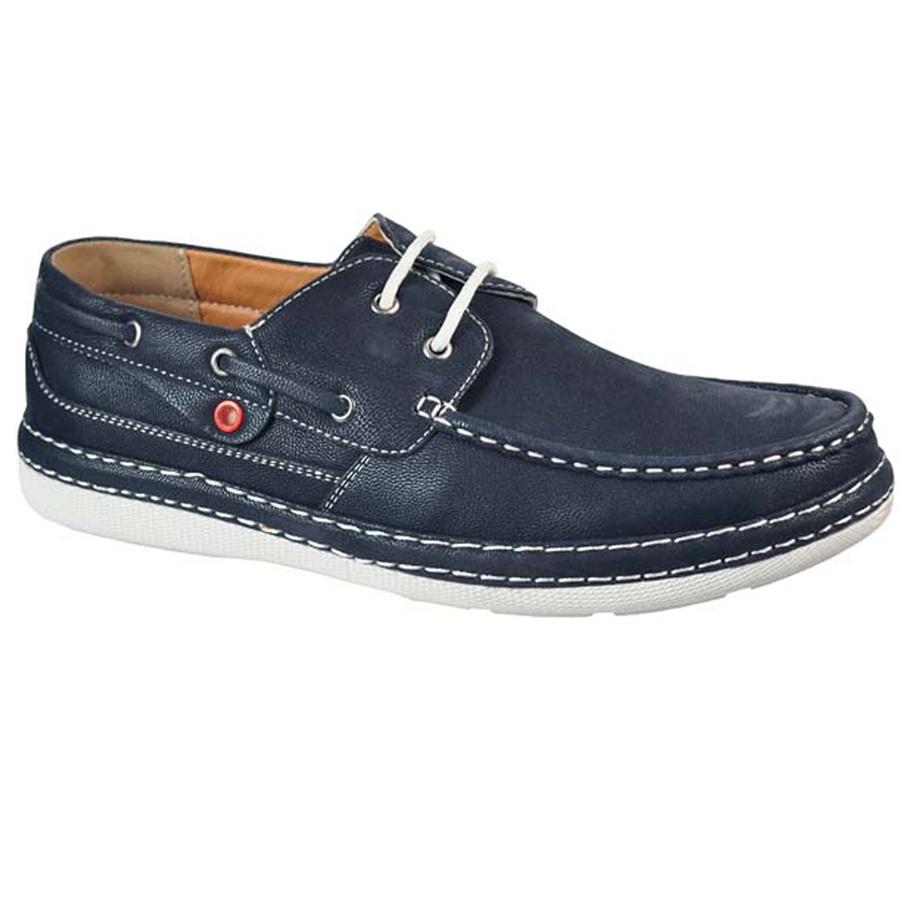 Navy Fashion Forward Boat Shoes
