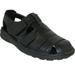 CLOSE BACK SANDAL WITH VELCRO STRAPS