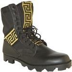 KRAZY SHOE ARTISTS Handcrafted Ribbon Leather Upper Men's Jungle Boot