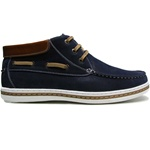 STYLISH HI-TOP MEN'S SHOE IN NAVY