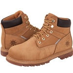"GLOBALWIN 6"" Genuine Leather Water Resistant Safety Steel Toe Work Boot, Wheat Color"