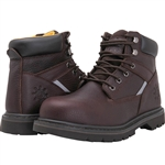 "GLOBALWIN 6"" Genuine Leather Insulated Brown Safety Steel Toe Work Boot"