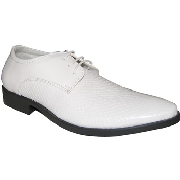DON WHITE LACE-UP DRESS SHOE