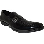 MIKE BLACK SLIP-ON DRESS SHOE