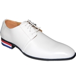 KRAZY SHOE ARTISTS WHITE CLASSIC DRESS MEN SHOES