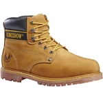 "KINGSHOW 6"" Genuine Leather Insulated Safety Soft Toe Work Boot"