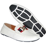 KRAZY SHOE ARTISTS MEN DRIVING SHOE IN WHITE
