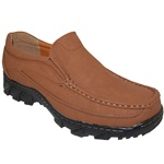 Rocky Roads Cognac Rugged Slip On Shoes