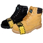2 Pairs Combo Deal STEEL TOE Work Boot Wheat & Outdoor Leather Shoes for Men Plus Black Pair