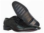 JACKSON BLACK LACE-UP DRESS SHOE