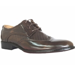 DAVE LACE-UP DRESS SHOES IN BROWN