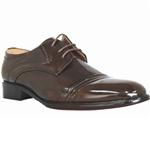 DAN FASHION FORWARD DRESS SHOES IN BROWN