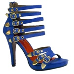 BLUE WITH GOLD STRAPPY SANDAL FOR WOMEN