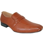 DESIGNER SHOE FACTORY YANKEE BROWN DRESS SHOES