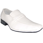 DESIGNER SHOE FACTORY YANKEE WHITE DRESS SHOES
