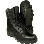 Krazy Shoe Artists Speed Lace Design Jungle Boots Tactical Leather with Breathable Canvas-Fabric