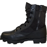 Krazy Shoe Artists Side Zipper | Speed Lace Design Jungle Boots Tactical Leather with Breathable Canvas-Fabric