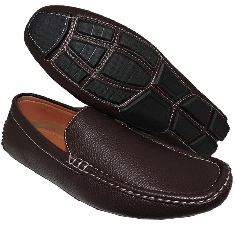 Shoe Factory: A SHOE FACTORY SIMPLE BUT PLAIN BROWN SLIP-ON FOR MEN