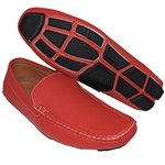 A SHOE FACTORY SIMPLE BUT PLAIN RED SLIP-ON FOR MEN