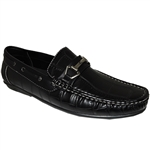 SHOE ARTISTS RON CASUAL SLIP-ON IN BLACK