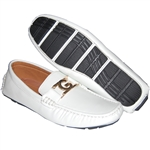 KRAZY SHOES ARTISTS SIMPLE BUT PLAIN WHITE SLIP-ON