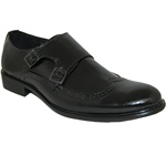 Classic Weave Wingtip Men Shoe With Buckle