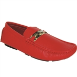 KRAZY SHOE ARTISTS RED Party Men's Loafer Drivers