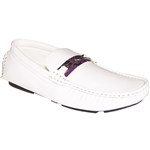 KRAZY SHOE ARTISTS WHITE Party Men's Loafer Drivers