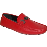 GIOVANNI RED SLIP-ON MEN'S CASUAL DRIVING SHOE