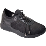 Republic Shoes | Women Black Lightweight Fashion Sneaker with Chunky Sole