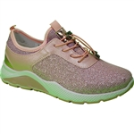 Republic Shoes | Women Pink Lightweight Fashion Sneaker with Chunky Sole