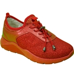 Republic Shoes | Women Red Lightweight Fashion Sneaker with Chunky Sole