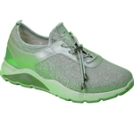 Republic Shoes | Women Silver Lightweight Fashion Sneaker with Chunky Sole