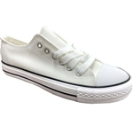 Republic Shoes | Designer Cut Sneakers In White