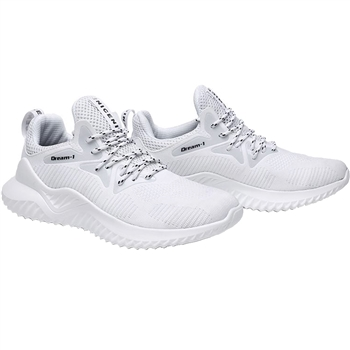 KRAZY SHOE ARTISTS Unisex Lightweight Fashion Sneakers In White