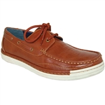 ART OF SHOES BROWN FASHION FORWARD BOAT SHOES FOR MEN