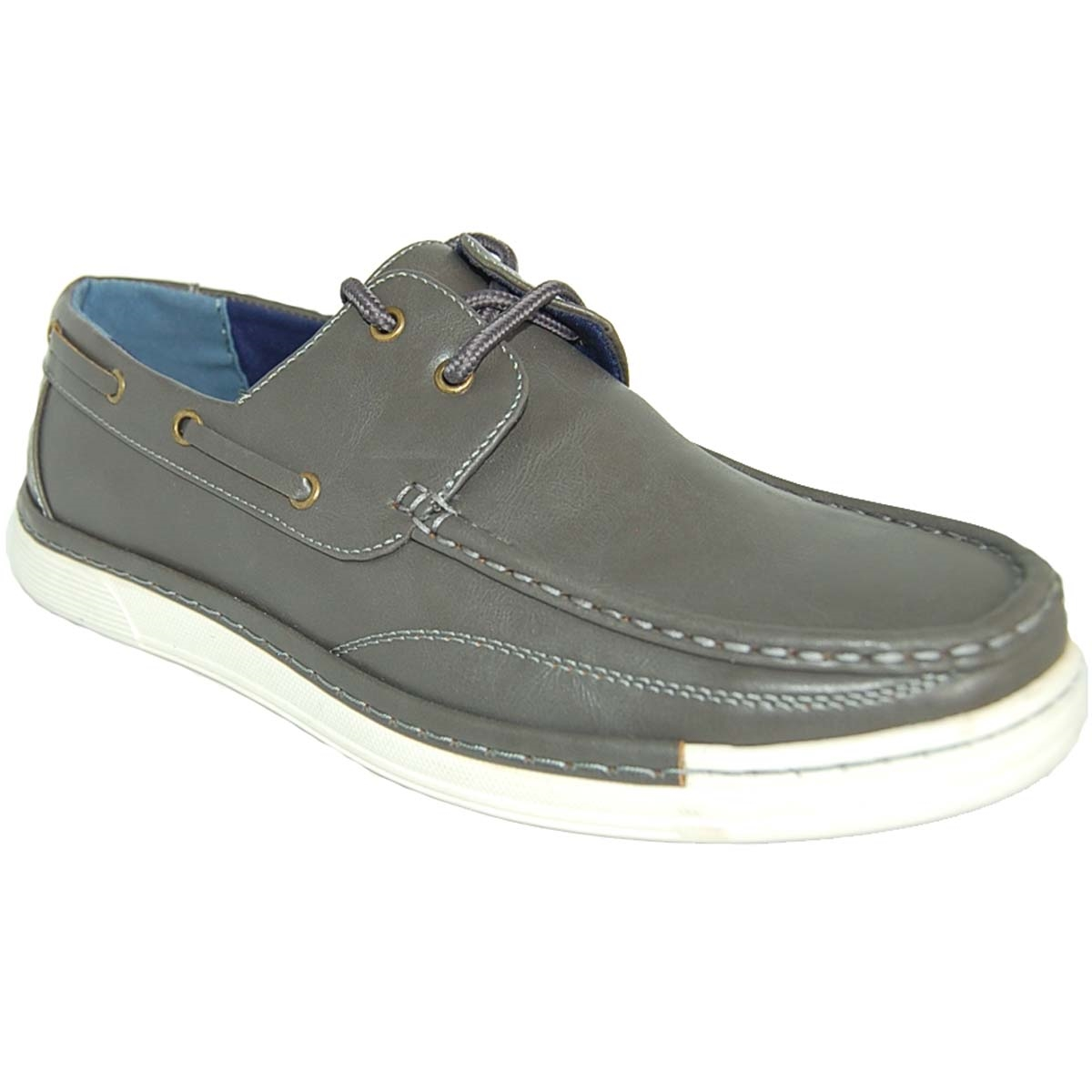 22a611617391 ... ART OF SHOES GRAY FASHION FORWARD BOAT SHOES FOR MEN
