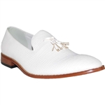 KRAZY SHOE LEATHER LINED WHITE DRESS SHOES