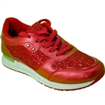 Republic Shoes | Women Red Glitter Lightweight Fashion Sneaker