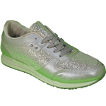 Republic Shoes | Women Silver Glitter Lightweight Fashion Sneaker