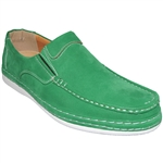 A CLASSIC MOCCASIN BOAT SHOE IN GREEN