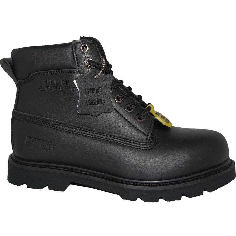 A Black Steel Toe Workboot For Hard Working Men S