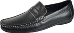 Best in Black Penny Loafer Driving Shoes