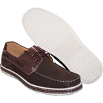 MEN FASHION FORWARD BOAT SHOES IN COFFEE