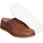 MEN FASHION FORWARD BOAT SHOES IN LIGHT BROWN