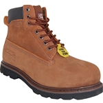 A BROWN STEEL TOE WORKBOOT FOR HARD WORKING MEN'S
