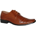 Art of Shoes Siin Men Classic Cap Toe Lace-up Shoe in Brown